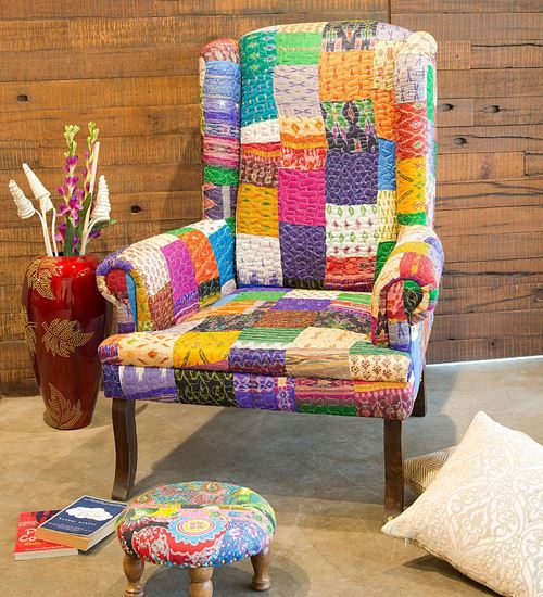 Recycled wing chair