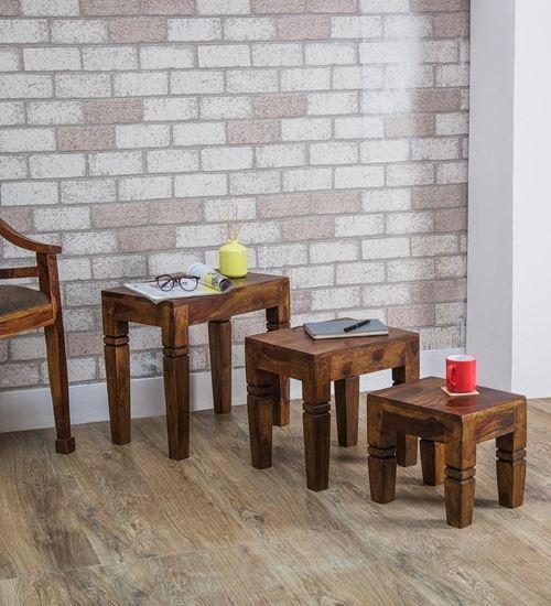 Solid wood stool set online