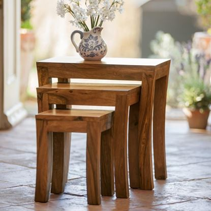 Picture of Handmade Stool Set of 3 pcs