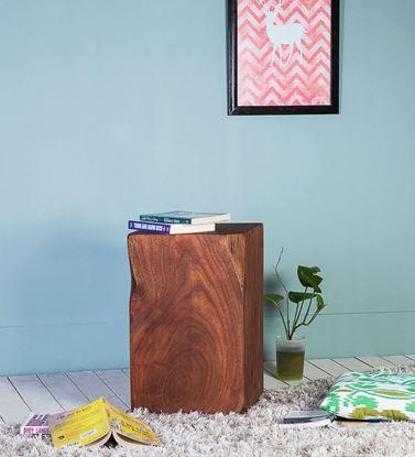 Solid Wood Log Side Table