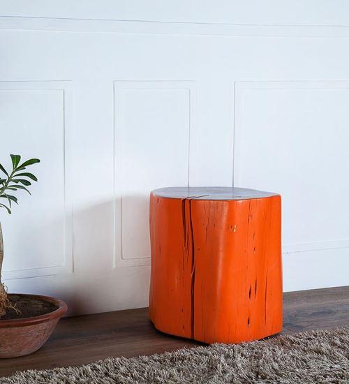 Solid Wood Log Side Table online