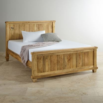 Buy wooden bed online on discount