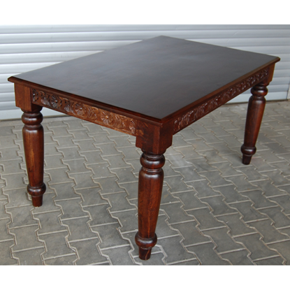 Picture of Sidecarving dinning with 25 mm thick Top And 11x11 cms round Turned Legs