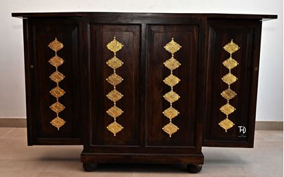 Buy pure wood Ethnic Bar Cabinet