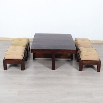 Coffee table with stool