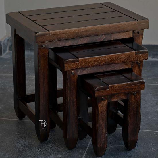Wooden Stool Set