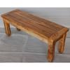 wooden long bench