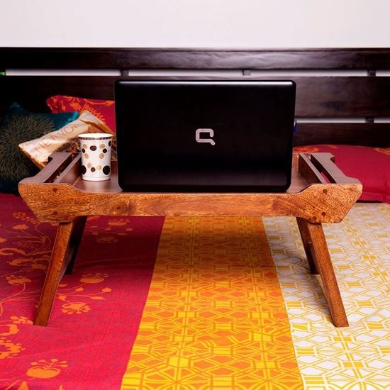 Buy Online Mango wood Serving Tray cum Bed Table