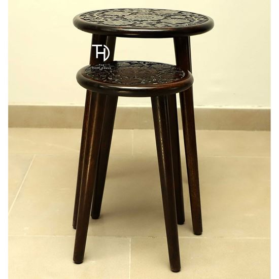 wooden side table online at low price