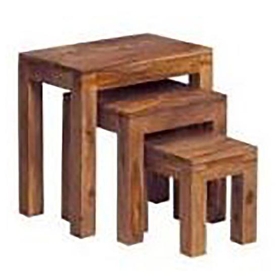 Buy Solid Wood Stool Set online