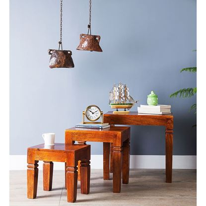 Buy wooden stool set