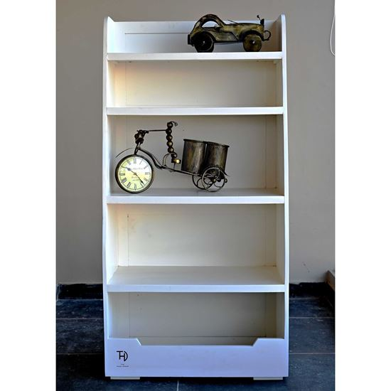 Buy White Wizard Bookcase for Study Room Furniture