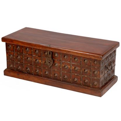 Buy Wooden Box with 1 door, Made in sheesham wood with Iron Fitting online at factory price