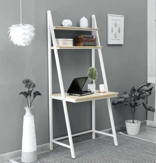 Study desk with rack